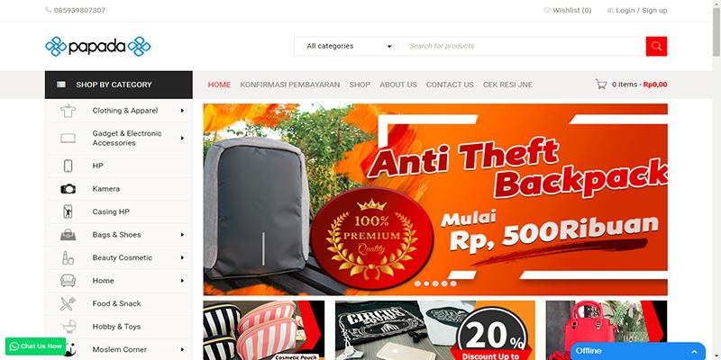 E-Commerce PAPADA